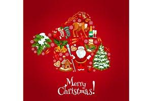 Santas hat silhouette