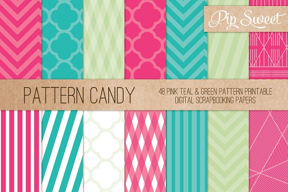 Candy Colour 48 Pattern Set