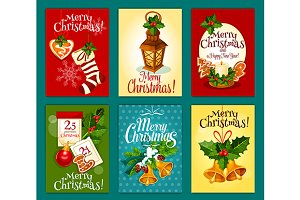 Merry Christmas cards and posters