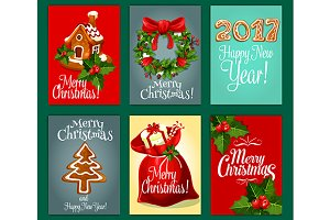 X-mas, New Year theme posters