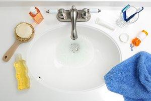 Overhead View of Bathroom Sink
