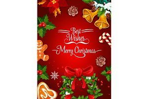 Merry Christmas holiday poster