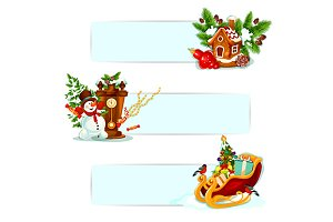 Christmas winter holiday banners