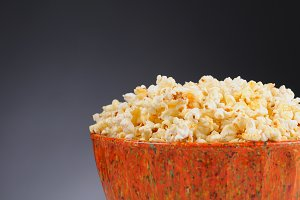 Closeup of a Bowl Full of Popcorn