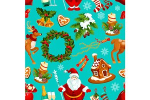 Christmas winter holidays pattern