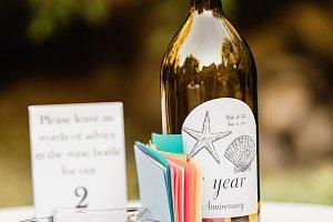 Anniversary Wine Bottle