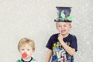 Holiday Kids with Props