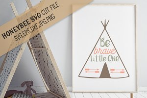 Be Brave Little One Teepee Nursery