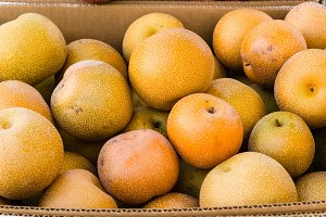 Asian pears at the market