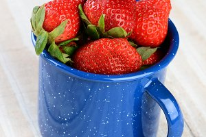 Cup Full of Fresh Ripe Strawberries