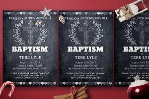 Chalkline Baptism Invitation