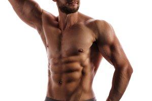 Bodybuilder Posing. Beauty male