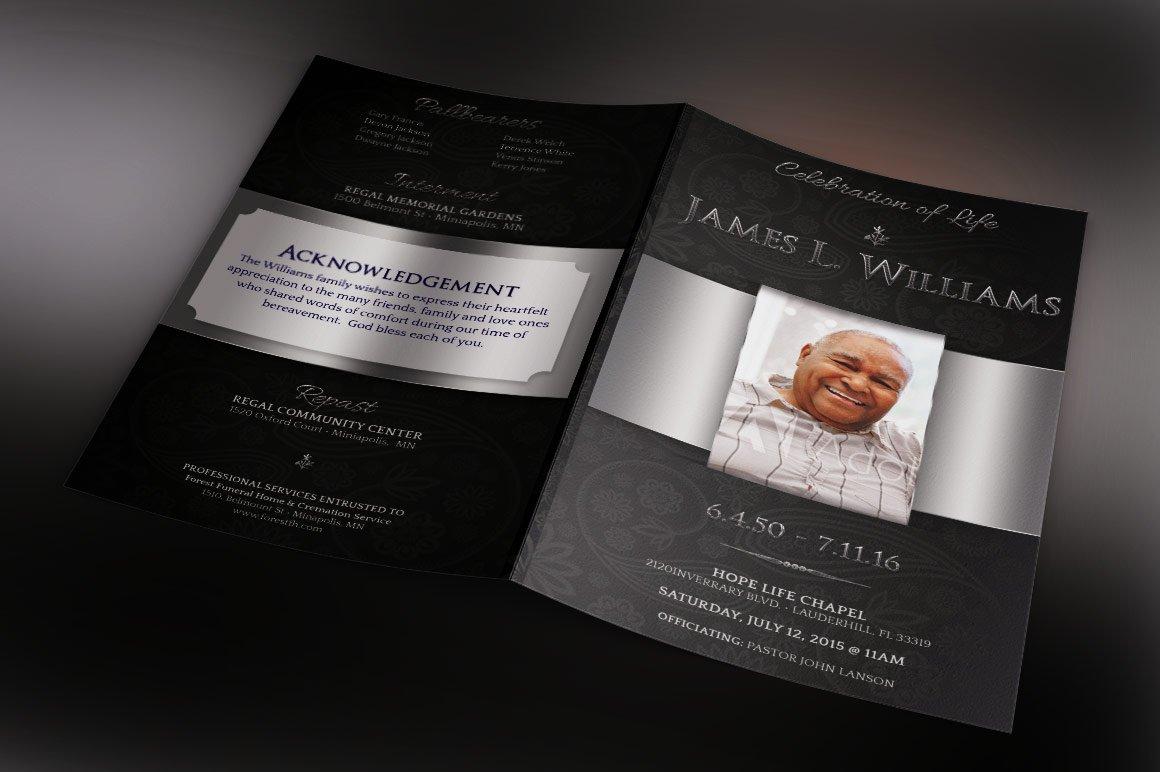Black Dignity Funeral Program ~ Templates ~ Creative Market
