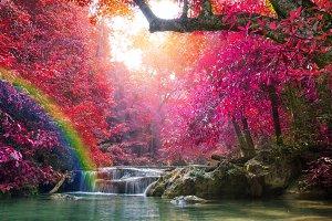 beautiful of Mun Dang waterfalls