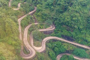 winding and curves road in china