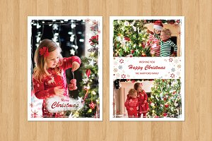 Christmas  Card Template-V436
