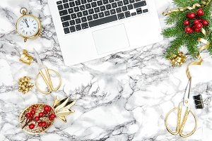 Christmas decoration Office desk JPG