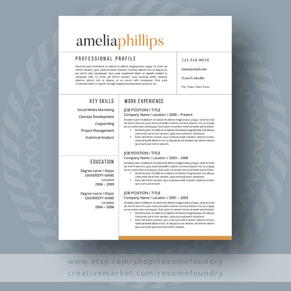 modern resume template resumes