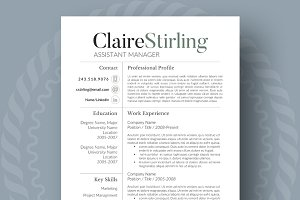 Modern resume template resume templates creative market thecheapjerseys Image collections