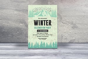 Winter Party Flyer Template-V437