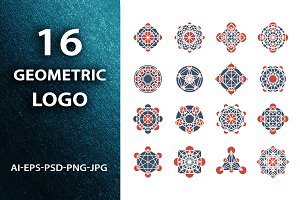Geometric logo template set