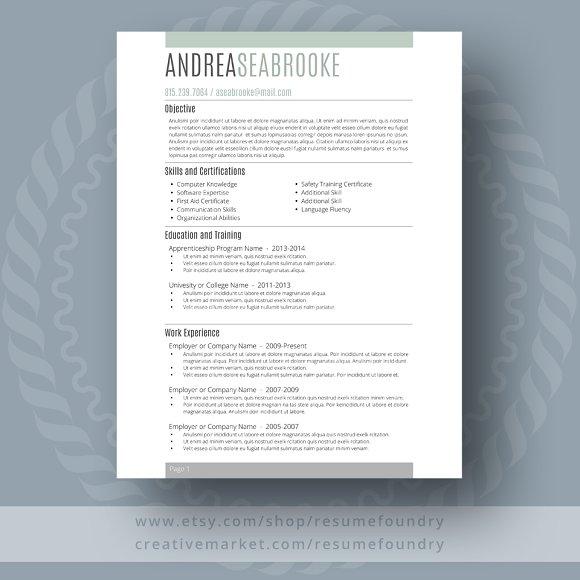 student resume template resume templates creative market
