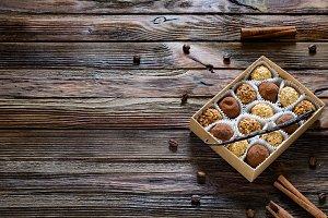 Box of chocolates, sweet gift