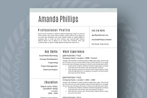Resume Template - 1,2,3 Page