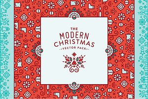 The Modern Christmas Vector Pack