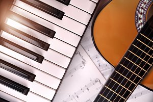 PIano and classic guitar