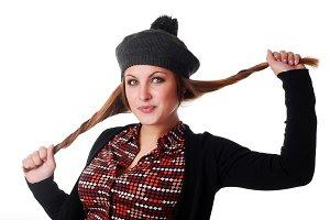 beret and jacket
