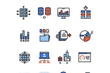 Web security, cloud computing icons