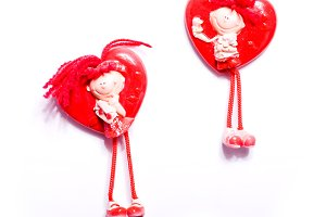 Two shape of heart toys