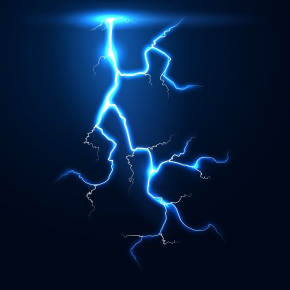 Lightning Thunder Storm Vector Graphics Creative Market