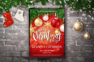 Christmas Posters with Lettering