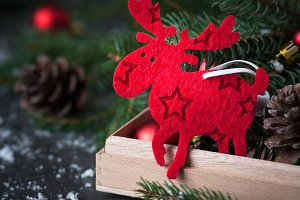 Sweden symbol Christmas Elk Moose.