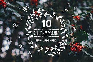 10 Christmas wreaths