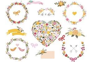 Floral clip art set 3