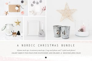 The Nordic Christmas mock up Bundle