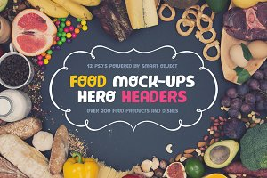 Food Hero Headers Mock-up Set #1
