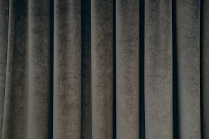 dark gray velvet curtain