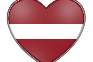 Latvia heart