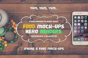 Food Hero Headers iPhone 6 Mock-ups