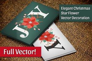 Christmas Star Flower Vector Deco