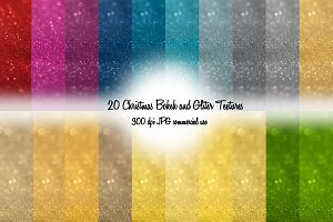 20 Christmas Bokeh and Glitter