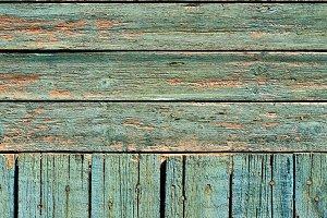 Green Distressed Planks