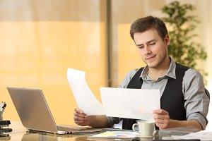 Attentive businessman working