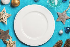 Christmas holiday food background