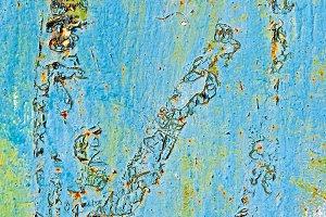 Blue Peeled Texture