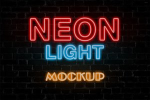 Neon Light Mock-Up